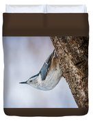 Hanging Nuthatch Duvet Cover