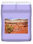 Hanging On The Cliff At Kodachrome Basin State Park Duvet Cover
