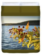Hanging Out At The Lake Duvet Cover