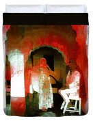 Hanging Out Travel Exotic Arches Red Abstract Square India Rajasthan 1e Duvet Cover