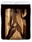 Hanging Revolver Duvet Cover
