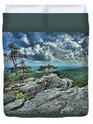 Hanging Rock Overlook Duvet Cover