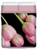 Hanging Tulips Duvet Cover by Tracy Hall