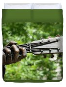 Hank Williams Hand And Guitar Duvet Cover