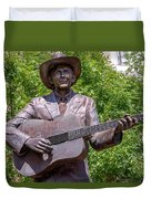 Hank Williams Statue - Cropped Duvet Cover