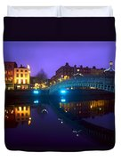 Hapenny Bridge, Dublin, Ireland Duvet Cover