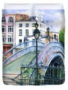 Ha'penny Bridge Dublin Duvet Cover