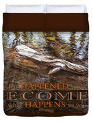Happenings Abstract Motivational Artwork By Omashte Duvet Cover
