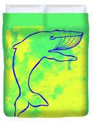Happier Humpback 1 Duvet Cover