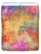 Happiness Abstract Painting Duvet Cover