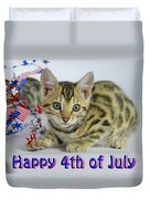 Happy 4th Of July Duvet Cover