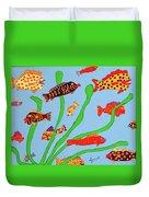 Happy Aquarium Duvet Cover