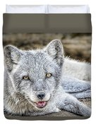 Happy Arctic Fox Duvet Cover