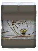 Happy As Afrog Duvet Cover