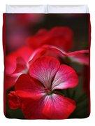 Happy Bright Geranium And Design Duvet Cover