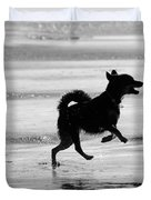 Happy Dog Black And White Duvet Cover