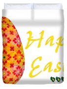 Happy Easter Abstract Greeting Card Art By Omaste Witkowski  Duvet Cover