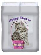 Happy Easter Card Duvet Cover