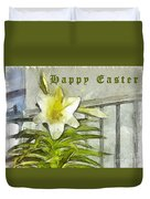 Happy Easter Lily Duvet Cover