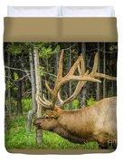 Happy Elk Duvet Cover