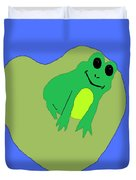 Happy Frog Duvet Cover
