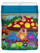Happy Frog Meadows Duvet Cover