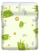Happy Frogs Duvet Cover
