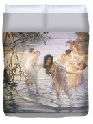 Happy Games Duvet Cover by Paul Chabas