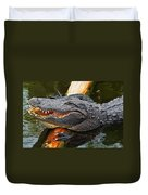 Happy Gator Duvet Cover