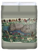 Happy Hippos Duvet Cover