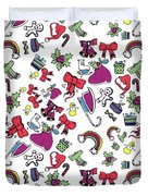 Happy Holiday  Duvet Cover
