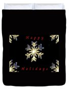 Happy Holiday Snowflakes Duvet Cover