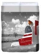 Happy Holidays Mail Duvet Cover