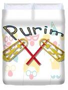 Happy Joyous Purim  Duvet Cover