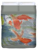 Happy Koi Duvet Cover