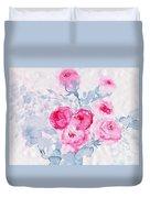 Happy Magenta -healing Roses -26 Duvet Cover