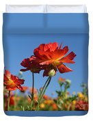 Happy Mother's Day Flowers Duvet Cover