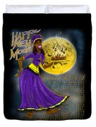 Happy New Moon Sirach 43 Duvet Cover