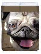 Happy Pug Duvet Cover