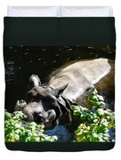 Happy Rhino Duvet Cover