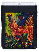 Happy Rooster Family Duvet Cover