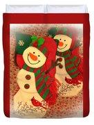 Happy Snowmen Duvet Cover