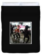 Happy Songkran. The Water Splashing Duvet Cover