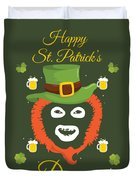 Happy St Patrick's Dave League Of Gentlemen Inspired Papa Lazarou  Duvet Cover