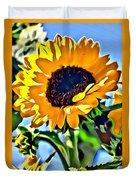Happy Sunflower Duvet Cover
