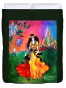 Happy To Dance. Ameynra And Mother-queen Duvet Cover