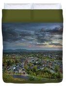 Happy Valley Residential Neighborhood During Sunset Duvet Cover