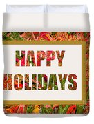Happy Holidays Card Duvet Cover