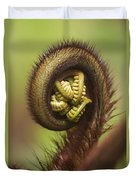 Hapuu Fern Frond Shoot Duvet Cover