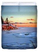 Harakka Island Sunset Duvet Cover